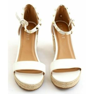 """Esprit """"ROMY"""" Studded Faux Leather Wedges"""